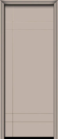 WDMA 32x96 Door (2ft8in by 8ft) Exterior Smooth IMPACT | 96in Inglewood Solid Contemporary Door 1