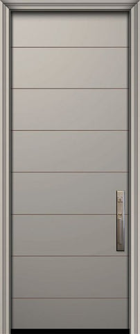 WDMA 32x96 Door (2ft8in by 8ft) Exterior Smooth IMPACT | 96in Westwood Solid Contemporary Door 1