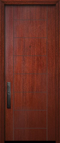 WDMA 32x96 Door (2ft8in by 8ft) Exterior Mahogany IMPACT | 96in Brentwood Solid Contemporary Door 1