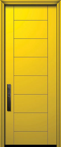 WDMA 32x96 Door (2ft8in by 8ft) Exterior Smooth IMPACT | 96in Brentwood Solid Contemporary Door 1