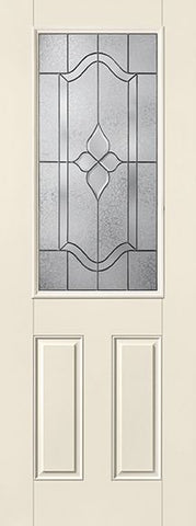 WDMA 32x96 Door (2ft8in by 8ft) Exterior Smooth Fiberglass Impact Door 8ft 1/2 Lite Concorde 1