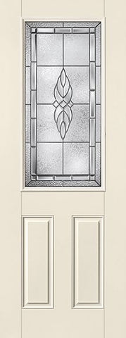 WDMA 32x96 Door (2ft8in by 8ft) Exterior Smooth Fiberglass Impact Door 8ft 1/2 Lite Kensington 1