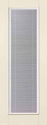 WDMA 32x96 Door (2ft8in by 8ft) Exterior Smooth Fiberglass Impact Door 8ft Full Lite With Stile Blinds 1