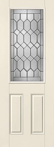 WDMA 32x96 Door (2ft8in by 8ft) Exterior Smooth Fiberglass Impact Door 8ft 1/2 Lite Crystalline 1
