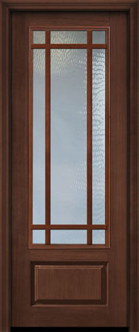 WDMA 32x96 Door (2ft8in by 8ft) Patio Cherry IMPACT | 96in 3/4 Lite Prairie 9 Lite SDL Door 1
