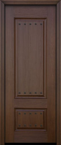 WDMA 32x96 Door (2ft8in by 8ft) Exterior Mahogany IMPACT | 96in 2 Panel Square Door with Clavos 1