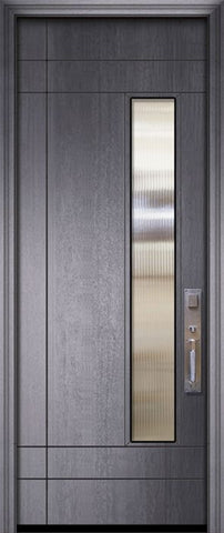 WDMA 32x96 Door (2ft8in by 8ft) Exterior Mahogany 96in Santa Barbara Contemporary Door w/Textured Glass 2