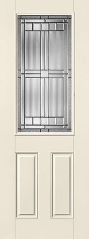 WDMA 32x96 Door (2ft8in by 8ft) Exterior Smooth Fiberglass Impact Door 8ft 1/2 Lite Saratoga 1