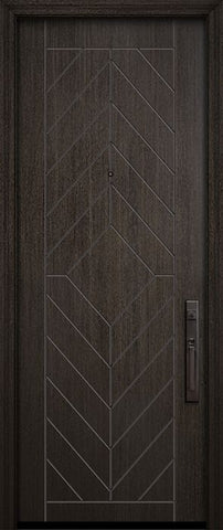 WDMA 32x96 Door (2ft8in by 8ft) Exterior Mahogany 96in Lynnwood Solid Contemporary Door 1