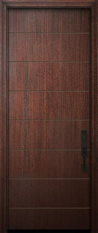WDMA 32x96 Door (2ft8in by 8ft) Exterior Mahogany 96in Westwood Solid Contemporary Door 1