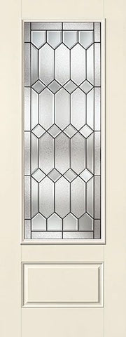 WDMA 32x96 Door (2ft8in by 8ft) Exterior Smooth Fiberglass Impact Door 8ft 3/4 Lite Crystalline 1