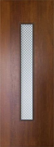 WDMA 32x96 Door (2ft8in by 8ft) Exterior Mahogany 96in Malibu Contemporary Door w/Metal Grid 1
