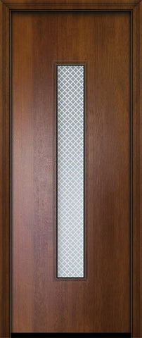 WDMA 32x96 Door (2ft8in by 8ft) Exterior Mahogany 96in Malibu Contemporary Door w/Metal Grid 2