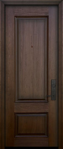 WDMA 32x96 Door (2ft8in by 8ft) Exterior Mahogany 96in 2 Panel Square Door 1