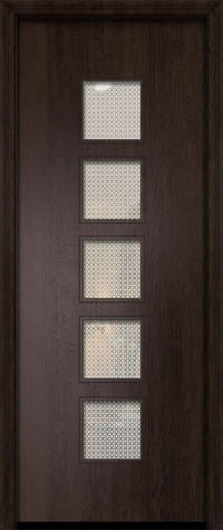 WDMA 32x96 Door (2ft8in by 8ft) Exterior Mahogany 96in Venice Contemporary Door w/Metal Grid 2