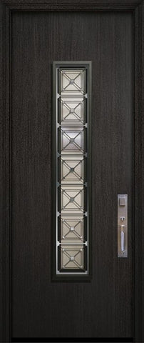 WDMA 32x96 Door (2ft8in by 8ft) Exterior Mahogany 96in Malibu Contemporary Door with Speakeasy 2