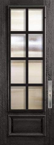WDMA 32x96 Door (2ft8in by 8ft) Exterior Mahogany 96in 3/4 Lite Minimal Steel Grille Portobello Door 1