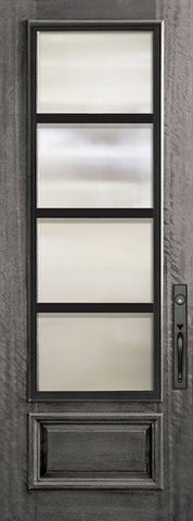WDMA 32x96 Door (2ft8in by 8ft) Exterior Mahogany 96in 3/4 Lite Urban Steel Grille Portobello Door 1
