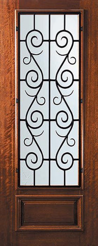 WDMA 32x96 Door (2ft8in by 8ft) Exterior Mahogany 96in 3/4 Lite St. Charles Door 1