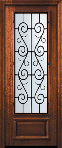 WDMA 32x96 Door (2ft8in by 8ft) Exterior Mahogany 96in 3/4 Lite St. Charles Door 2
