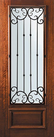 WDMA 32x96 Door (2ft8in by 8ft) Exterior Mahogany 96in 3/4 Lite Valencia Door 1