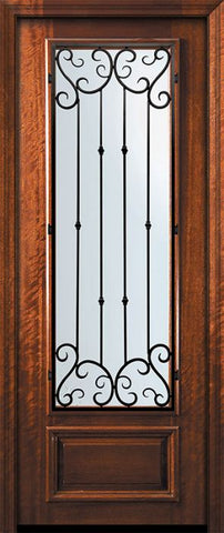 WDMA 32x96 Door (2ft8in by 8ft) Exterior Mahogany 96in 3/4 Lite Valencia Door 2