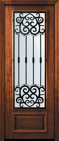 WDMA 32x96 Door (2ft8in by 8ft) Exterior Mahogany 96in 3/4 Lite Barcelona Door 2