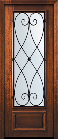 WDMA 32x96 Door (2ft8in by 8ft) Exterior Mahogany 96in 3/4 Lite Charleston Door 2