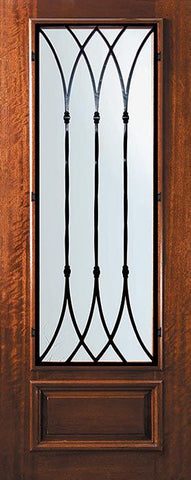 WDMA 32x96 Door (2ft8in by 8ft) Exterior Mahogany 96in 3/4 Lite Warwick Door 1