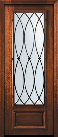 WDMA 32x96 Door (2ft8in by 8ft) Exterior Mahogany 96in 3/4 Lite La Salle Door 2