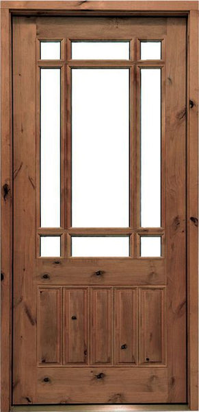 WDMA 34x78 Door (2ft10in by 6ft6in) Exterior Knotty Alder Walhalla Single Door 1