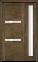 WDMA 34x78 Door (2ft10in by 6ft6in) Exterior Swing Mahogany 132 Windermere Shaker Single Entry Door Sidelight 3