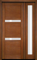 WDMA 34x78 Door (2ft10in by 6ft6in) Exterior Swing Mahogany 132 Windermere Shaker Single Entry Door Sidelight 4