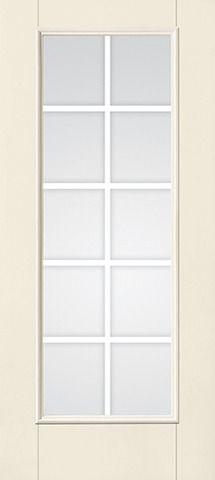 WDMA 34x80 Door (2ft10in by 6ft8in) French Smooth F-Grille Colonial 10 Lite Star Single Door 1