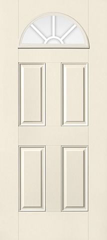 WDMA 34x80 Door (2ft10in by 6ft8in) Exterior Smooth F-Grille Colonial 4 Lite Half Lite Fan Lite 4 Panel Star Single Door 1