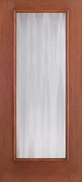 WDMA 34x80 Door (2ft10in by 6ft8in) French Mahogany Fiberglass Impact Door Full Lite With Stile Lines Chinchilla 6ft8in 1