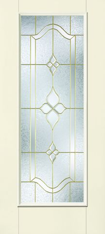WDMA 34x80 Door (2ft10in by 6ft8in) Exterior Smooth Fiberglass Impact Door Full Lite With Stile Lines Concorde 6ft8in 1
