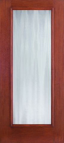 WDMA 34x80 Door (2ft10in by 6ft8in) Exterior Mahogany Fiberglass Impact HVHZ Door Full Lite With Stile Lines Chinchilla 6ft8in 1