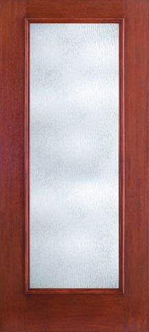 WDMA 34x80 Door (2ft10in by 6ft8in) Patio Mahogany Fiberglass Impact HVHZ Door Full Lite With Stile Lines Rainglass 6ft8in 1