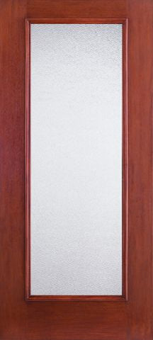 WDMA 34x80 Door (2ft10in by 6ft8in) French Mahogany Fiberglass Impact HVHZ Door Full Lite With Stile Lines Granite 6ft8in 1