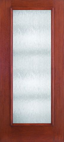WDMA 34x80 Door (2ft10in by 6ft8in) French Mahogany Fiberglass Impact HVHZ Door Full Lite With Stile Lines Chord 6ft8in 1