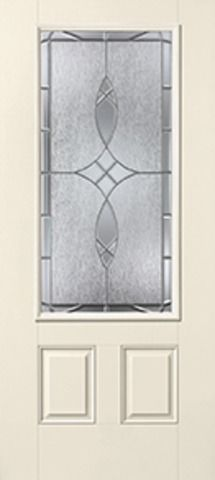 WDMA 34x80 Door (2ft10in by 6ft8in) Exterior Smooth Blackstone 3/4 Lite 2 Panel Star Single Door 1