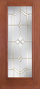 WDMA 34x80 Door (2ft10in by 6ft8in) Exterior Mahogany Fiberglass Impact Door Full Lite With Stile Lines Concorde 6ft8in 1