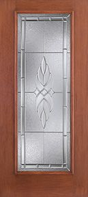 WDMA 34x80 Door (2ft10in by 6ft8in) Exterior Mahogany Fiberglass Impact Door Full Lite With Stile Lines Kensington 6ft8in 1