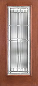 WDMA 34x80 Door (2ft10in by 6ft8in) Exterior Mahogany Fiberglass Impact Door Full Lite With Stile Lines Saratoga 6ft8in 1