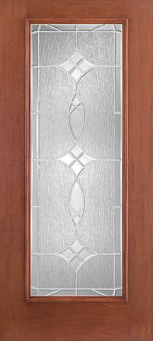 WDMA 34x80 Door (2ft10in by 6ft8in) Exterior Mahogany Fiberglass Impact Door Full Lite With Stile Lines Blackstone 6ft8in 1
