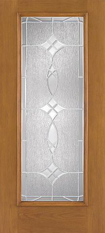 WDMA 34x80 Door (2ft10in by 6ft8in) Exterior Oak Fiberglass Impact Door Full Lite Blackstone 6ft8in 2