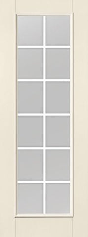 WDMA 34x96 Door (2ft10in by 8ft) Patio Smooth F-Grille Colonial 12 Lite 8ft Full Lite W/ Stile Lines Star Single Door 1