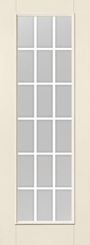 WDMA 34x96 Door (2ft10in by 8ft) French Smooth F-Grille Colonial 18 Lite 8ft Full Lite W/ Stile Lines Star Single Door 1