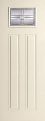 WDMA 34x96 Door (2ft10in by 8ft) Exterior Smooth Saratoga 8ft Full Lite Sidelight W/ Stile Lines Star Single Door 1